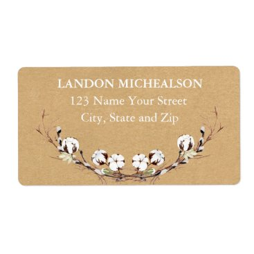 Beach Themed Rustic Cotton Address Labels