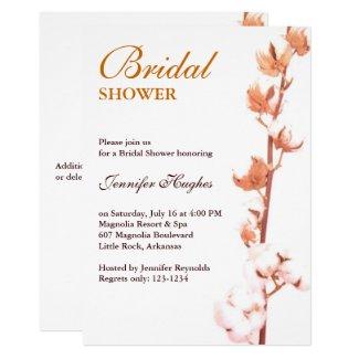 Rustic Cotton Bridal Shower Invitation
