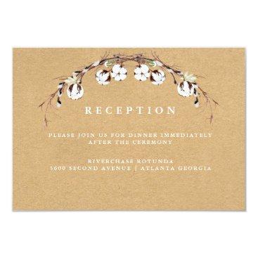 Beach Themed Rustic Cotton Reception Information Insert Card