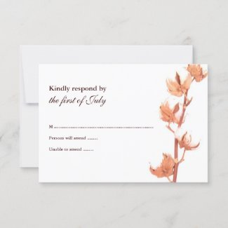 Rustic Cotton Response Card