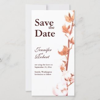 Rustic Cotton Save the Date Photo Card