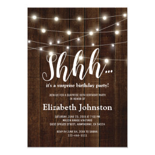 Country birthday invitations zazzle rustic country adult surprise birthday party invitation filmwisefo