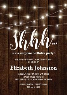 surprise party invitations zazzle