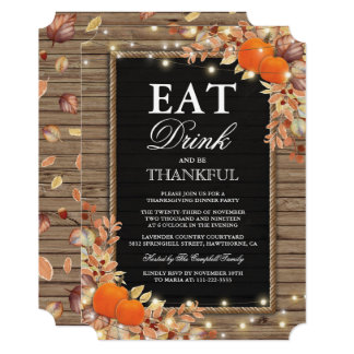 Rustic Country Autumn Fall Harvest Thanksgiving Card