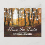 Rustic Country Autumn Fall Save the Date Announcement Postcard