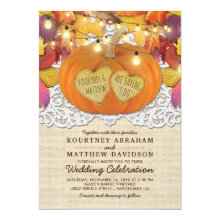 Rustic Country Autumn Pumpkin Lace Wedding