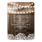 Rustic Country Baby's Breath String Lights Wedding Invitation