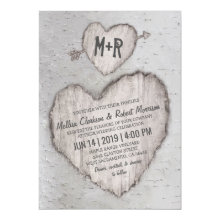 Rustic Country Bark Birch Tree Wedding