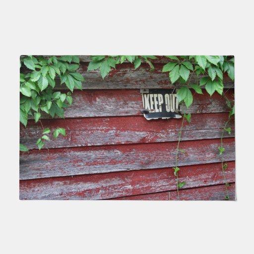 Rustic Country Barn Door Mat Rug Doormat Zazzle