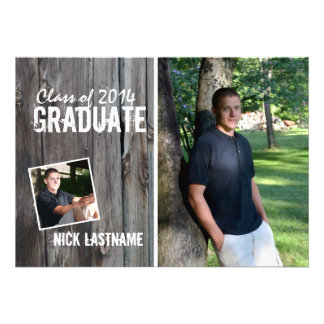 Rustic Country Barn Graduation Card