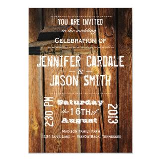 Rustic Country Barn Horseshoe Wedding Invitations