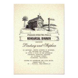 Rustic Country Barn Rehearsal Dinner Invitations