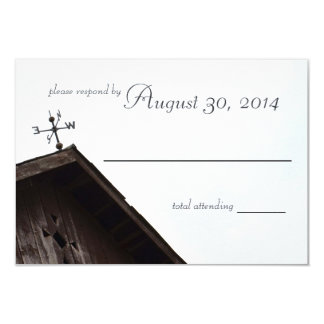 Rustic Country Barn Weather Vane Response Card