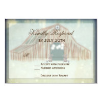 Rustic Country Barn Wedding RSVP Cards
