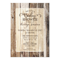 Rustic Country Barn Wood Baby Shower Card