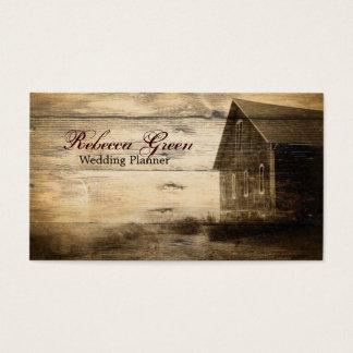 Rustic Country Barn Wood Barn Wedding Business Card