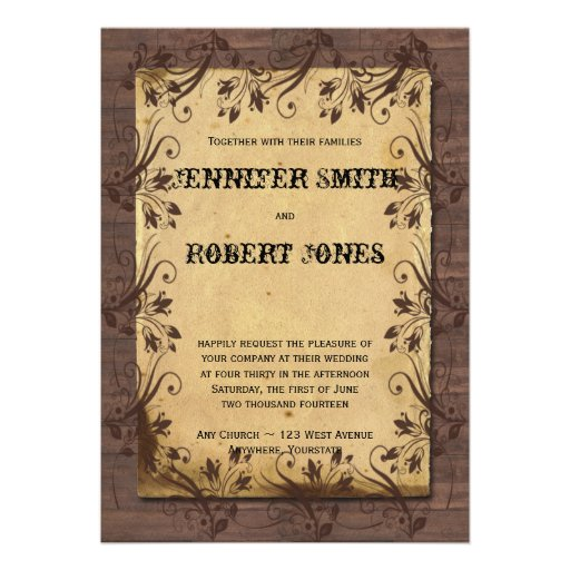 Country Rustic Wedding Invitations 023 - Country Rustic Wedding Invitations