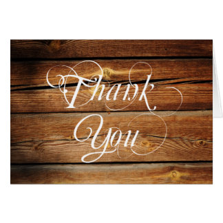 Rustic Country Barn Wood Blank Thank You Cards