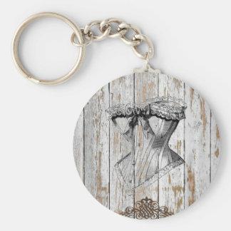 rustic country barn wood bohemian wedding keychain