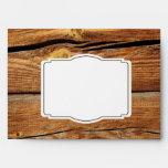 Rustic Country Barn Wood Custom Wedding Envelopes