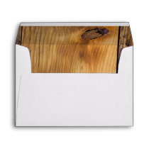 Rustic Country Barn Wood Envelope