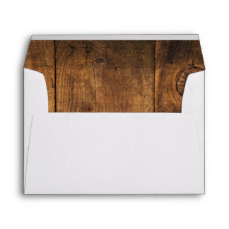 Rustic Country Barn Wood Envelopes