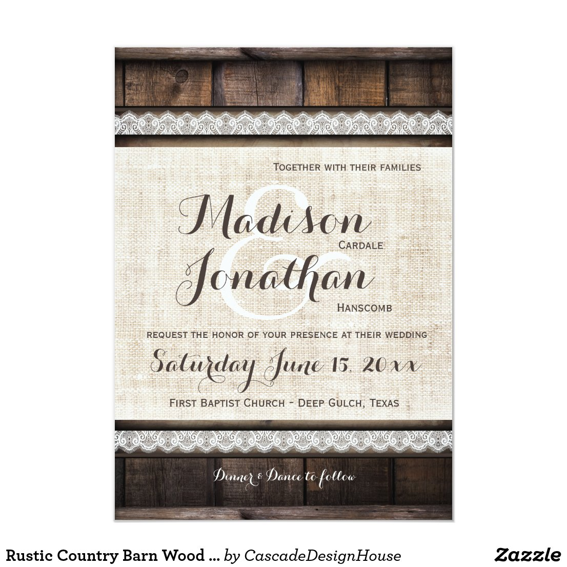 Rustic Country Wedding Invitations Rustic Wedding Invitation Sets
