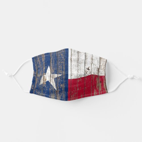 rustic Country Barn Wood Lone Star Texas Flag Cloth Face Mask
