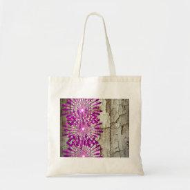 Rustic Country Barn Wood Pink Purple Flowers Bags