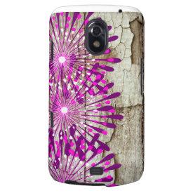 Rustic Country Barn Wood Pink Purple Flowers Samsung Galaxy Nexus Covers
