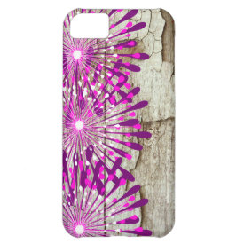 Rustic Country Barn Wood Pink Purple Flowers iPhone 5C Covers
