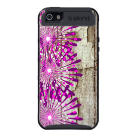 Rustic Country Barn Wood Pink Purple Flowers iPhone 5/5S Cases