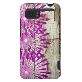Rustic Country Barn Wood Pink Purple Flowers HTC Vivid Cover