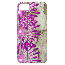 Rustic Country Barn Wood Pink Purple Flowers iPhone 5 Covers