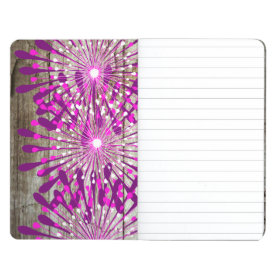 Rustic Country Barn Wood Pink Purple Flowers Journals