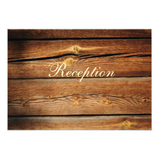 Rustic Country Barn Wood Reception Card
