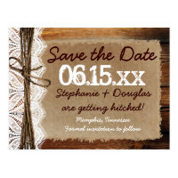 Rustic Country Barn Wood Save the Date Postcards (<em>$1.05</em>)