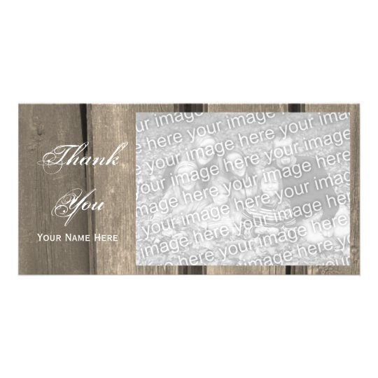 Rustic Country Barn Wood Thank You Card
