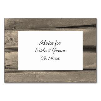 Rustic Country Barn Wood Wedding Advice Cards