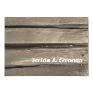 Rustic Country Barn Wood Wedding Flat Note Card