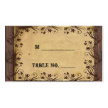 Rustic Country Barn Wood Wedding Place Cards Double-Sided Standard Business Cards (Pack Of 100)