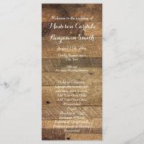 Rustic Country Barn Wood Wedding Program Template