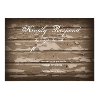 Rustic Country Barn Wood Wedding RSVP Cards