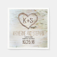 rustic country birch bark paper napkins