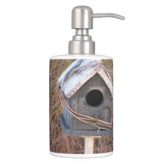 Rustic Country Birdhouse Bathroom Set