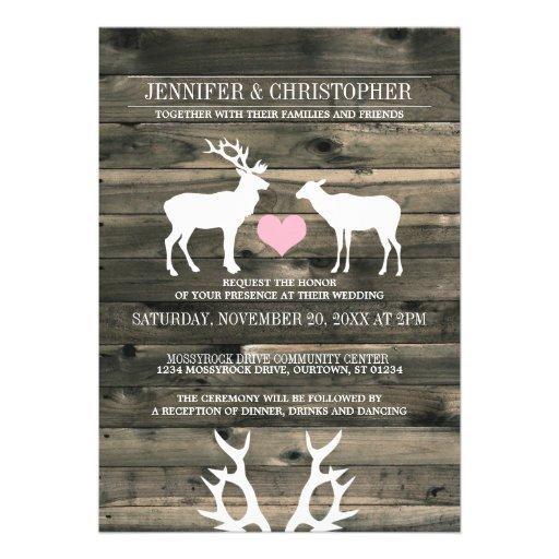 Personalized Antlers Wedding Invitations Custominvitations4u Com