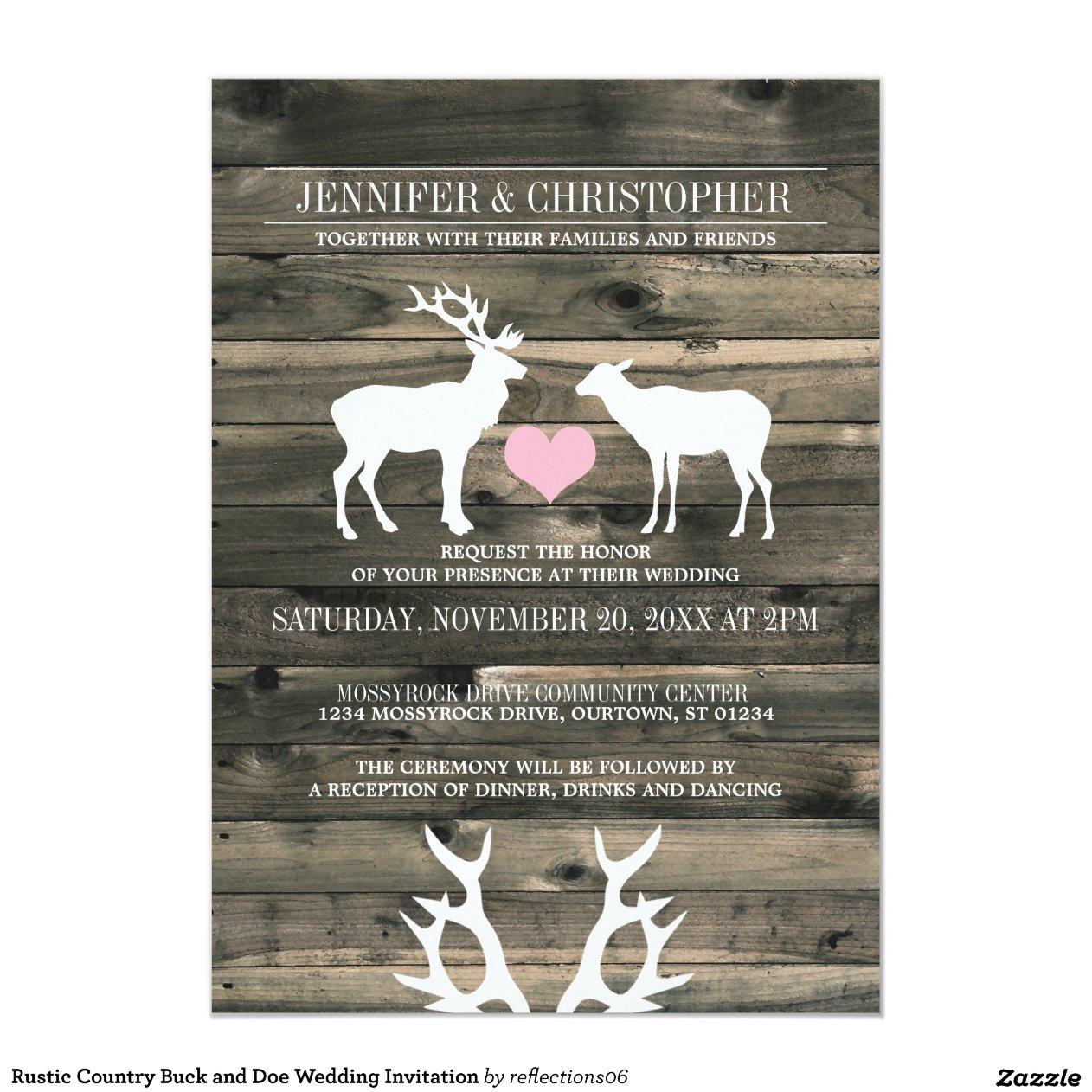 Rustic Country Buck And Doe Wedding Invitation R4c8e527be623448cbc4a1f0b68fc0609 Zkrqs 1200 Jpg