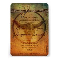 Rustic Country Bull Horns Wedding Invitations