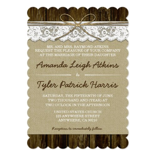 Best 50 Country Theme Wedding Invitations - Stunning Collection ...