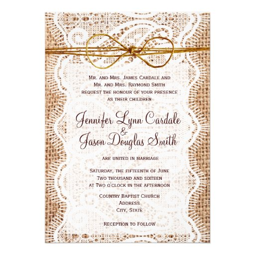 Country Rustic Wedding Invitations 021 - Country Rustic Wedding Invitations